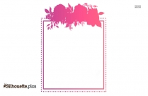 Floral Square Border Silhouette Vector
