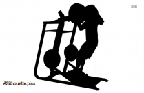 Dumbell Silhouette Clipart