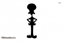 Black And White Squidward Silhouette