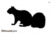Running Squirrel Silhouette