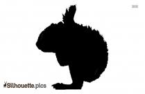 Squirrel Silhouette Target