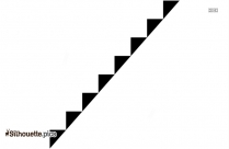 Stairs Clip Art Silhouette Image
