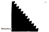 Stairs PNG Silhouette