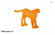 Standing Cheetah Silhouette Image
