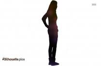 Cartoon Girl Silhouette Clip Art