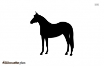 Horse Pawing Silhouette Art