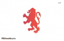 Standing Lion Silhouette Clipart