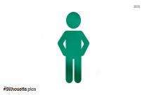 Standing Man Vector Silhouette Free Vector Art