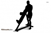 Standing One Arm Dumbbell Curl Silhouette