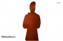 Standing Young Woman Silhouette