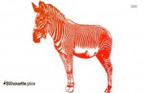 Standing Zebra Silhouette