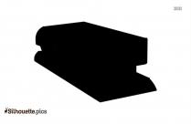 Stapler Silhouette Background, Stationery Cartoon