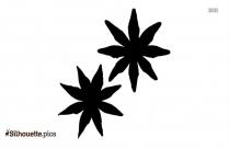 Star Anise Silhouette Free Vector Art
