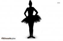 Lucky Ballerina Silhouette Clip Art