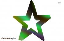 Star Cartoon Silhouette Clipart Vector