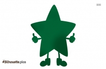 Star Cartoon Silhouette Free Vector Art