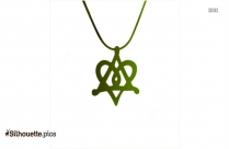 Black Star Of David Necklace Silhouette Image