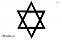 Star Of David Sign Silhouette