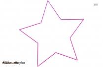 Star Shape Outline Silhouette Art