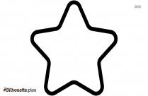 Star Shape Outline Silhouette Clipart