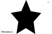 Star Shape Silhouette Free Vector Art