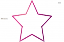 Star Shape Silhouette Image, Clipart