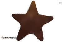 Starfish Long Tail Silhouette