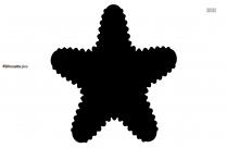 Starfish Silhouette Free Vector Clipart