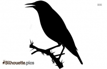 Crow Vector Clip Art Silhouette