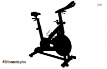 Stationary Bike Silhouette Vector And Graphics
