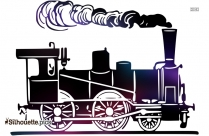 Cartoon Train Silhouette Icon