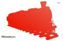 Steam Engine Trains Silhouette Image