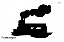 Cartoon Train Tender Molly Silhouette