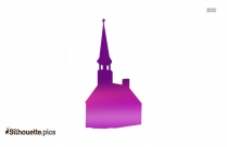 Steeple Church Silhouette Image