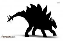 Stegosaurus Spikes Silhouette