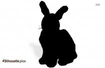 Cartoon Hare Silhouette