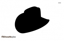 Black Campaign Hat Silhouette Image