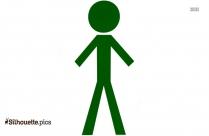 Yoga Stick Figures Clipart || Urdhva Hastasana Stick Figure Silhouette