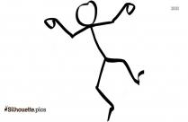 Stick Figure Man Falling Silhouette