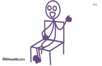 Sitting Person Vector Silhouette