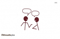 Stick Figure Talking Clipart Silhouette