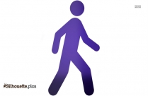 Stick Man Walking Clipart Silhouette