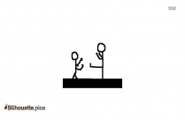 Stick Figures Arguing Clipart Silhouette