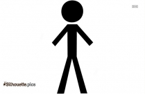 Stick Man Standing Silhouette Icon