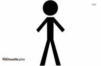Stick Man Vector Silhouette