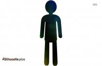 Stick Person Icon Silhouette