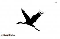 Stork Bird Silhouette Illustration