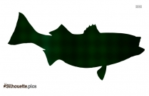 Cartoon King Salmon Silhouette