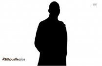 Black And White Standing Man Silhouette