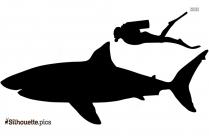 Cartoon Great Shark Silhouette Image